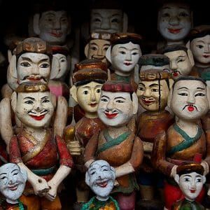 Water puppet dolls